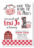 cow birthday invitation