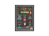 Cute Cars Birthday Chalkboard Poster