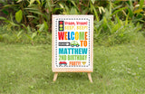 Cute Cars Birthday Welcome Sign - Invitetique