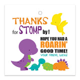 Cute Dinosaurs Party Favor Tags - Invitetique