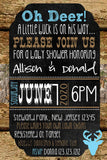 BUCK WOOD CAMOUFLAGE BABY SHOWER INVITATIONS - DIGITAL - Invitetique