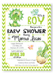 Dinosaur Baby Shower Invitation - Invitetique