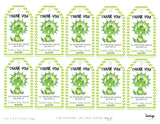 Dinosaur Baby Shower Favor Tags - Green - Invitetique