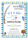 Fishing Baby Shower Invitation - Invitetique