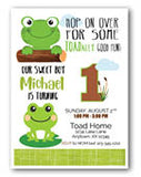 frog birthday invitation