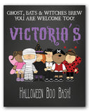 Halloween Kids Birthday Welcome Sign - Invitetique