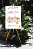 Autumn baby shower welcome sign