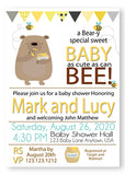 Honey on the way Bee baby Shower White Invitations - Invitetique