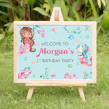 Mermaid Welcome Party Sign - Invitetique