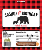lumberjack birthday candy wrappers personalized favor