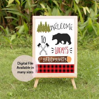 Lumberjack birthday decor