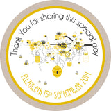 Mom to bee Circle Favor Tags