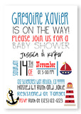 Nautical Baby Shower Invitations - Invitetique