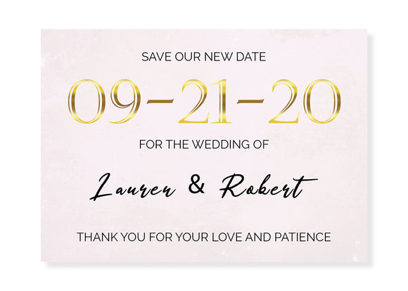 Change Our Date Card - Soft Pink