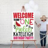 watermelon first birthday welcome sign
