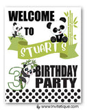 panda 1st birthday decor
