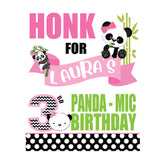 panda mic birthday sign