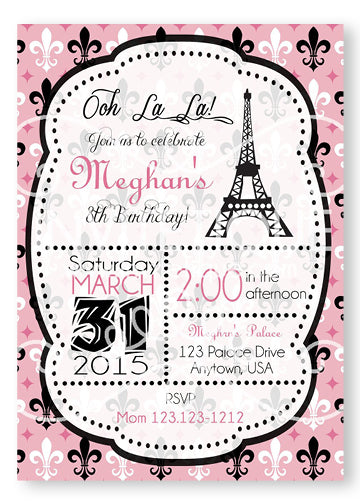 Paris Birthday Invitation -PI-4900 - Invitetique