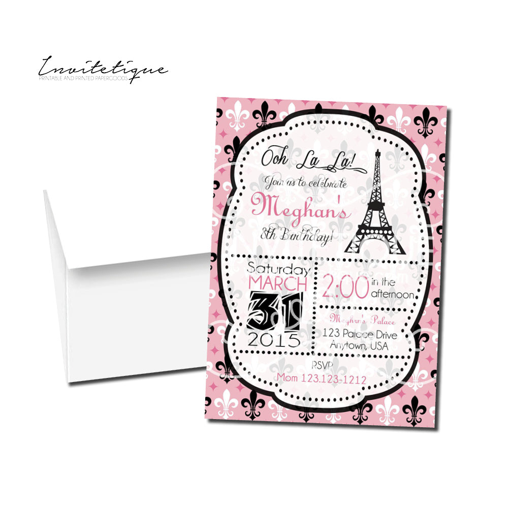 Paris Birthday Invitation PI 4900