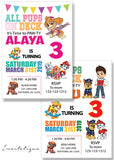 Paw patrol Birthday Invitation - PP909 - Invitetique
