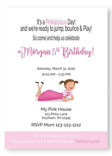 Pinkalicious Birthday Invitations - P102 - Invitetique