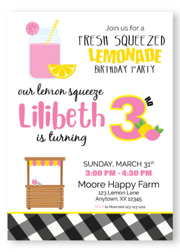 Pink lemonade themed birthday