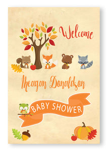 forest animal baby shower