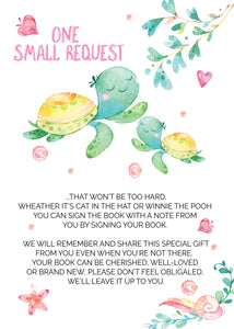 Sea Turtle Book request cards - Invitetique