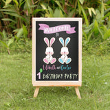 twin easter birthday welcome banner