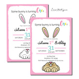 Some Bunny Birthday Invitation - Invitetique