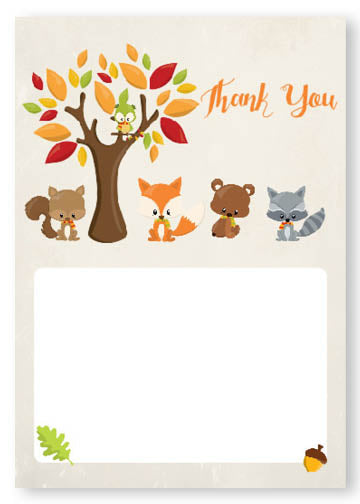 woodland thank you notes