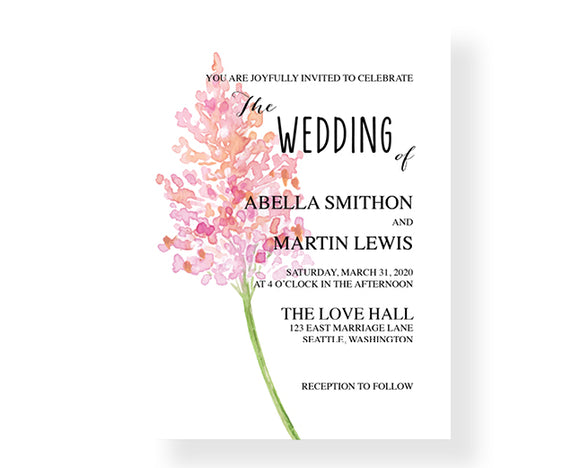 Spring Branch Wedding Invitations - Invitetique