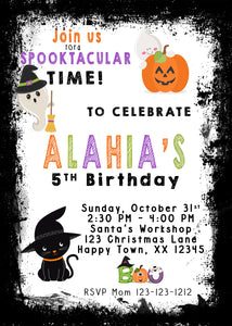 Trick or Treat Invitations, Costume party invitations, halloween invites, halloween birthday invitations, halloween