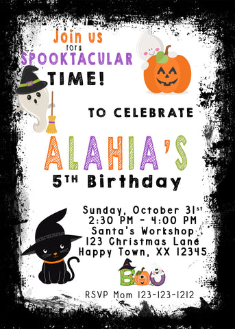 Trick or Treat Halloween Invitations - Invitetique