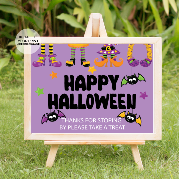 happy halloween party yard sign