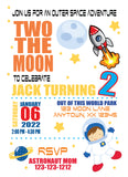 Two the Moon Invitation - Digital