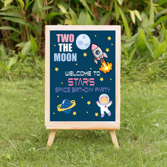 Two the moon girl welcome sign