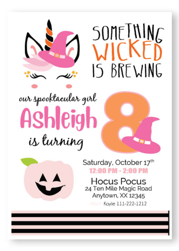 unicorn witch pink birthday ideas