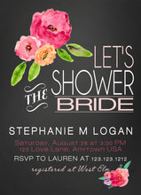 Bridal Shower Invitations Watercolor Flowers