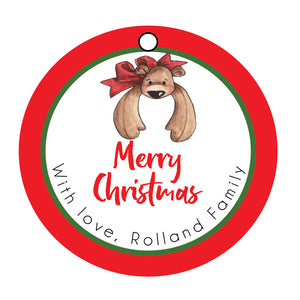 Christmas Bear Gift tags, personalized gift tags, gift tags, Christmas