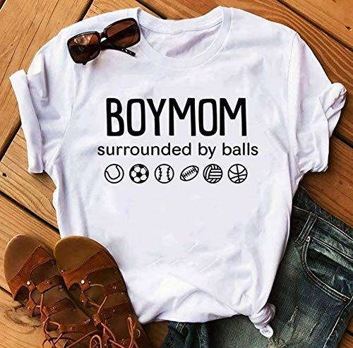 Boymom Surrounded by balls T-Shirt Longslee Sweatshirt Hoodie