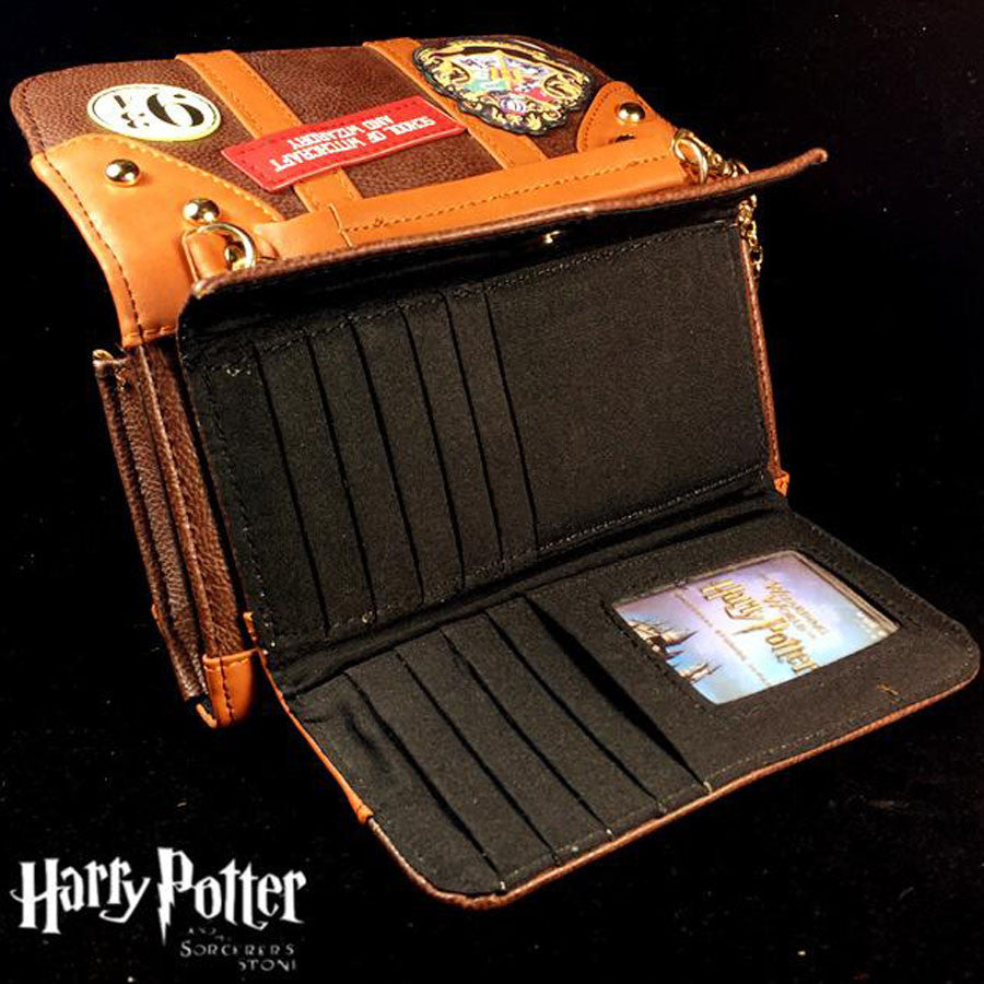 Harry Potter Hogwarts PU School Badge Wallet Package Shoulder Handbags