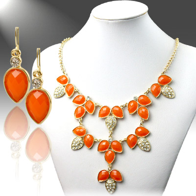 Necklace and Matching Earrings Set- Trendy Fashion Collection 59