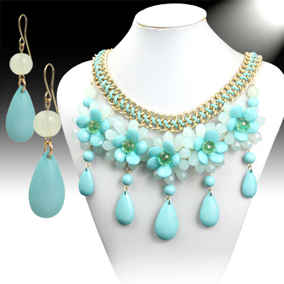 Necklace and Matching Earrings Set-  Mesmerizing Floral Collection