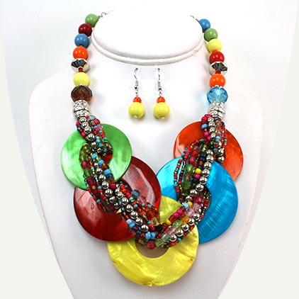 Necklace and Earrings Matching Set -Magnificent Sea Shell Collection 61