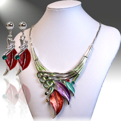 Necklace and Earrings Matching Set - Mezmerizing Floral Collection -4