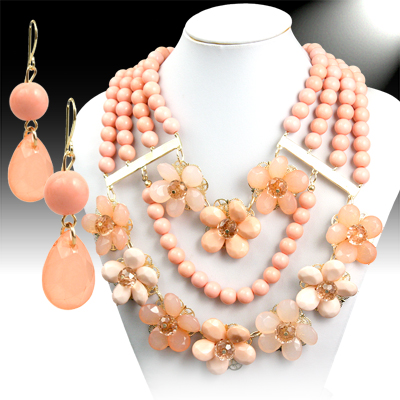 Necklace and Earrings Matching Set - Mesmerizing Floral Collection -48