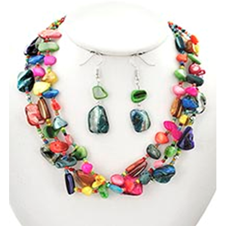 Necklace and Earrings Matching Set- Beautiful Contemporary Collection -41