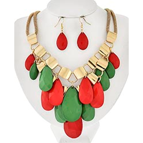 Necklace and Earrings Matching Set- Beautiful Contemporary Collection -50