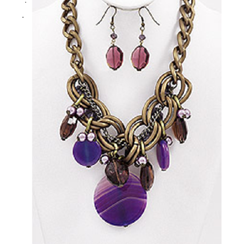 Necklace and Earrings Matching Set- Stunning Deco Art Collection 58
